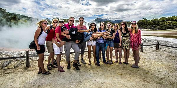 Haka Tours group at Rotorua