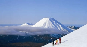 Active Volcano Mt Ruapehu, on the North Island - picture courtesy Haka Tours