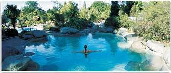 A great way to relax, the famous hot pools at Hanmer Springs