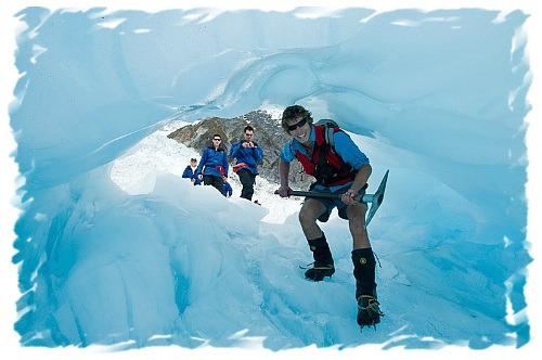 Walking on Franz Josef Glacier