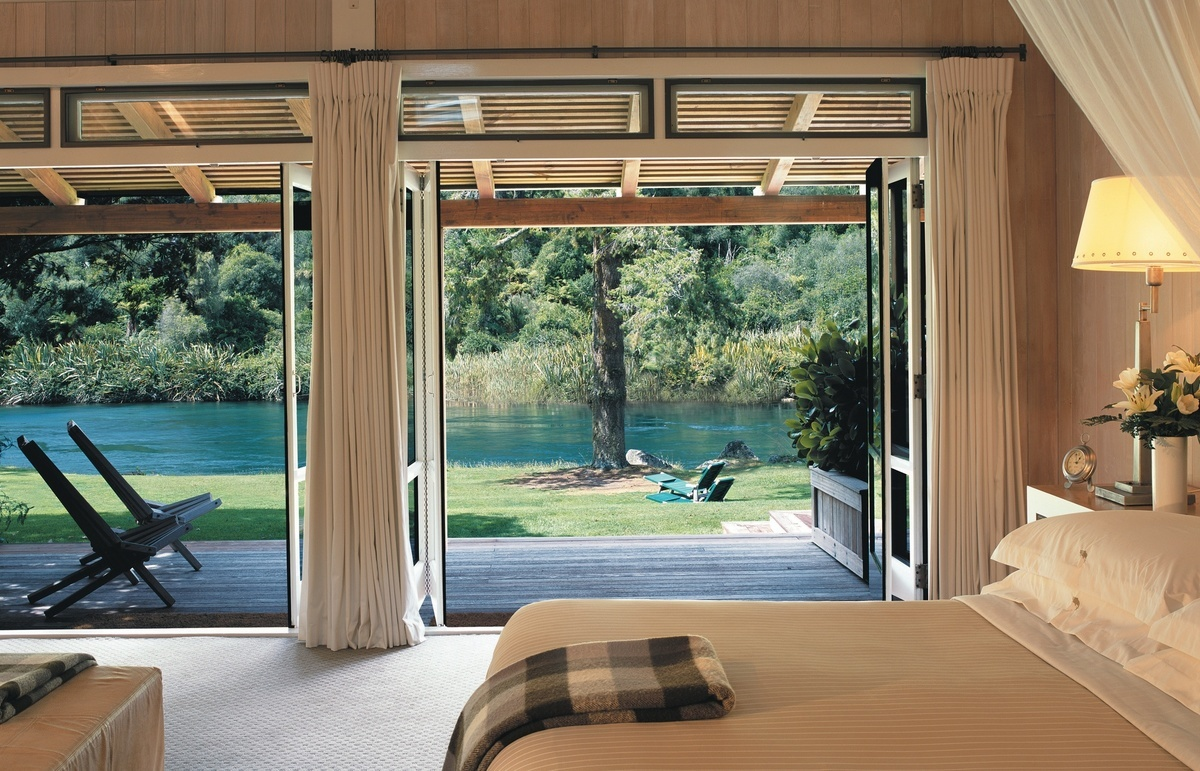 A Junior lodge Suite at Huka Lodge Taupo - image courtesy Huka Retreats