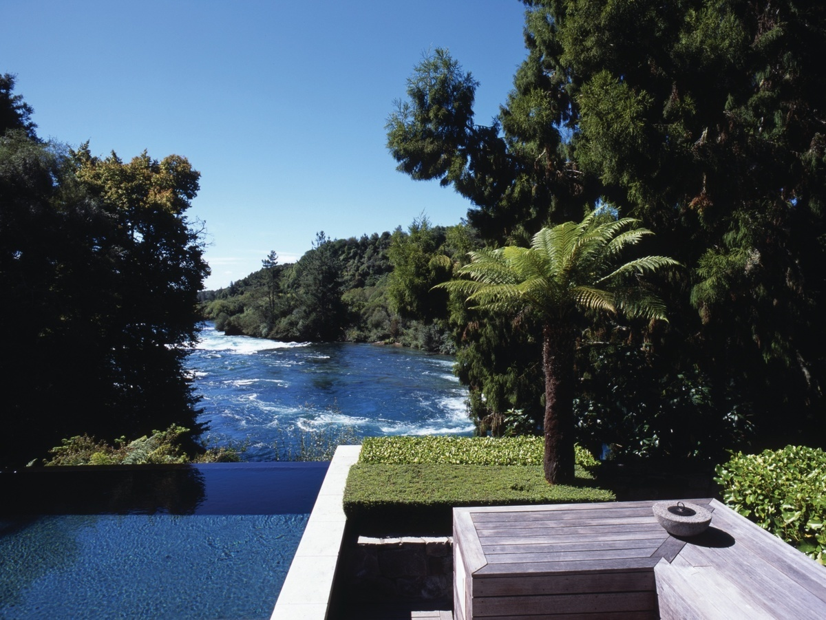 The beautiful Infinity Pool at the Owners Cottage, Huka Lodge - image courtesy Huka Retreats