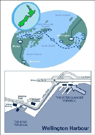 Interislander Map And Wellington Terminal Location