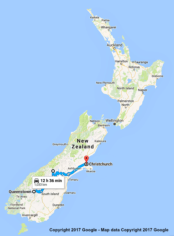 New Zealand Itinerary Queenstown and Mt Cook