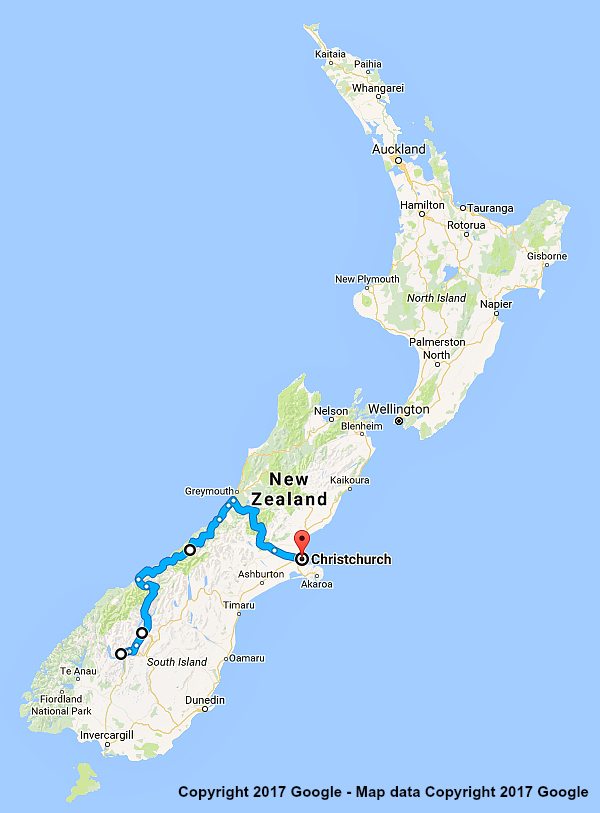 7 Day New Zealand itinerary Queenstown & Glaciers.