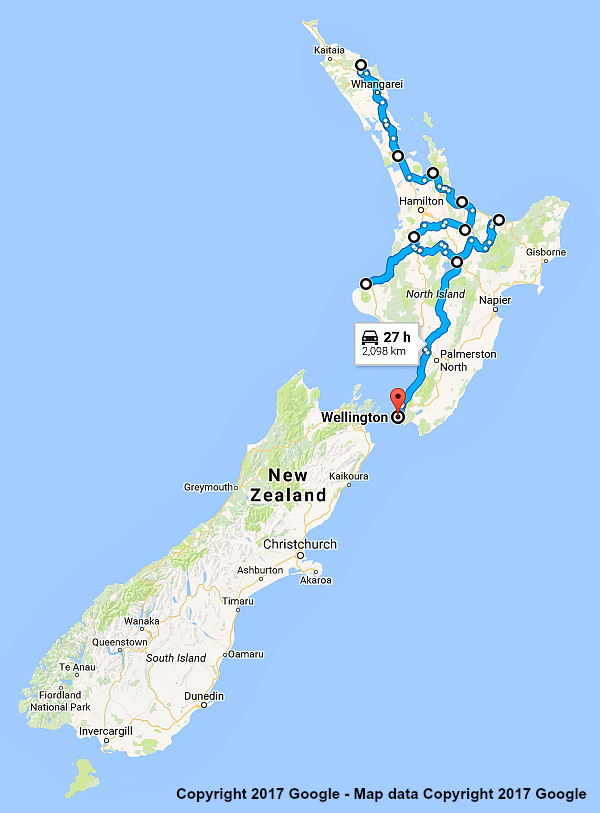 new zealand itinerary north island showcase 21 days. Black Bedroom Furniture Sets. Home Design Ideas