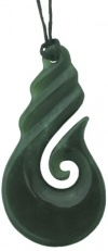 Picture of a jade hook pendan