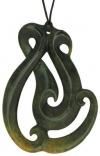 Picture of a jade Manaia pendan