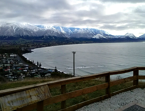 The spectacular snow capped Kaikoura ranges