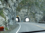 Road tunnels near Kaikour