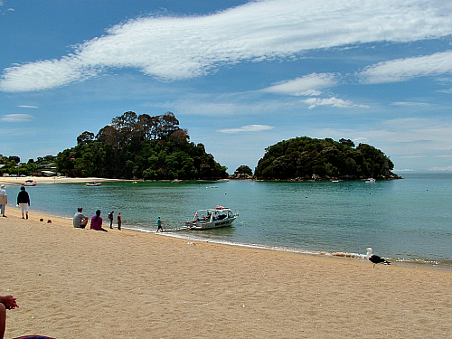 The postcard perfect beach at Kaiteri