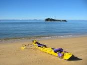 Kayaking on the serene waters in the Abel Tasman National Park