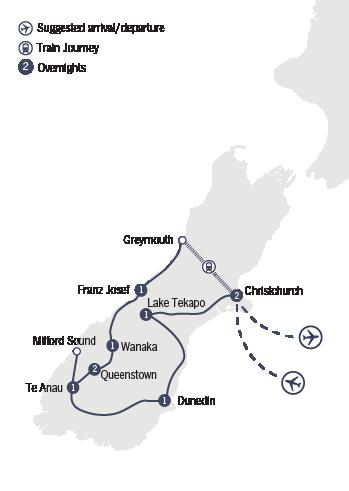 Kirra Tours 10 Day Solos Southern Magic tour map