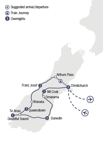 Kirra Tours 10 Day Southern Encounter tour map