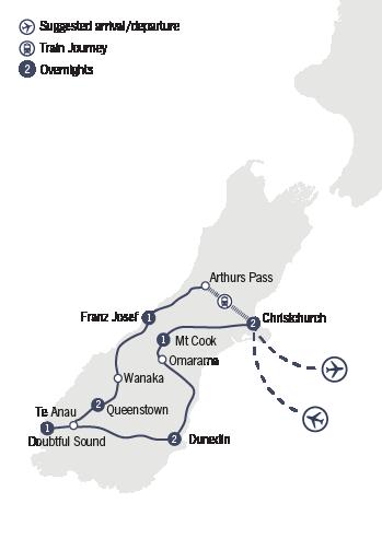 Kirra Tours 10 Day Southern Encounter tour map