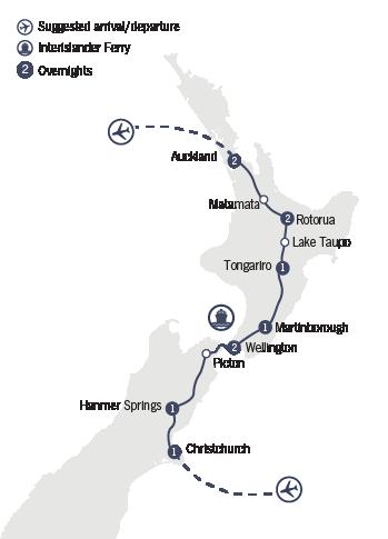 Kirra Tours 11 Day Aranui Map