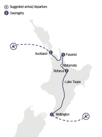 Kirra Tours 6 Day Northern Rapture map