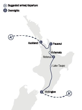 Kirra Tours 6 Day Northern Rapture map