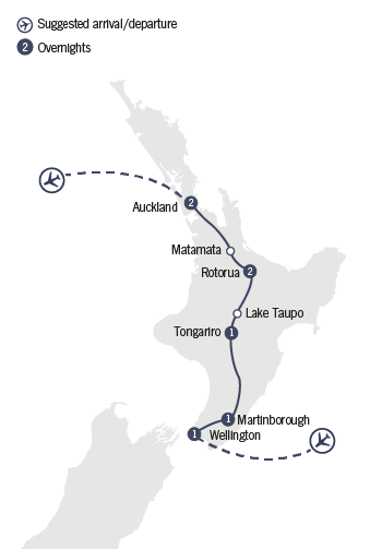 Kirra Tours 8 Day Spectacular North map