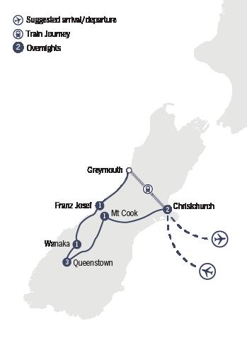 Kirra Tours 9 Day Midwinter Christmas Wonderland tour map