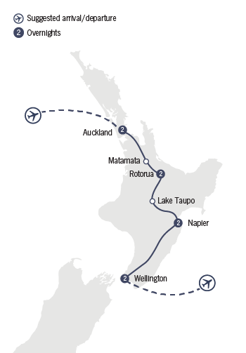 Kirra Tours 9 Day Northern Escape map