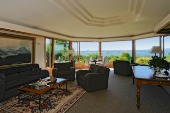 Relax and admire the views from the spacious lounge area