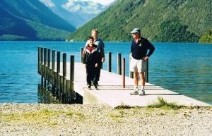 Dave, Tim and Kim's uncle Toppy, at Lake Rotoiti near Nelson, back in 1999