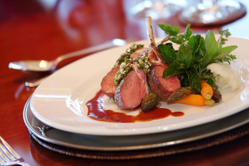World class cuisine at Lake Taupo Lodge - pic courtesy Lake Taupo Lodge