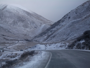 Snow on Lindis Pass