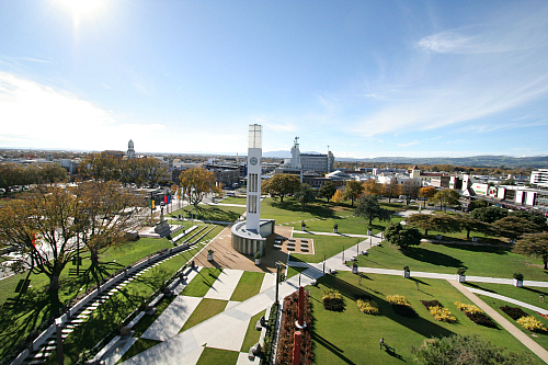 Manawatu New Zealand - picture of The Square in Palmerston North - picture courtesy manawatunz.co.nz