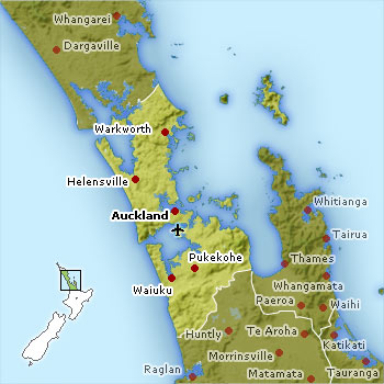 Auckland location map