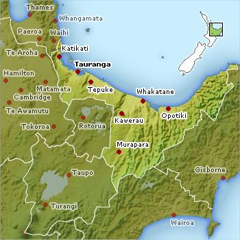 Bay of Plenty Map
