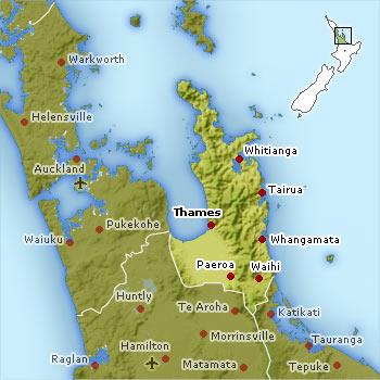 Coromandel map