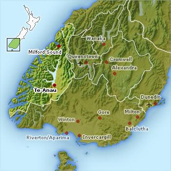 Fiordland map