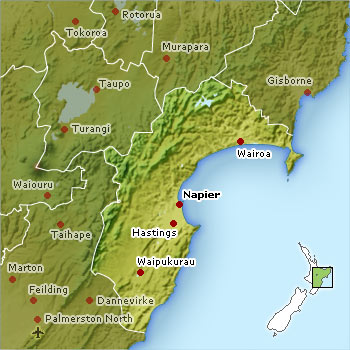 Hawkes Bay Location Map