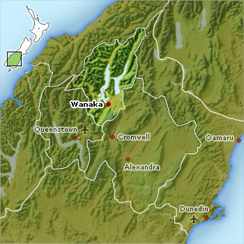 Map of Lake Wanaka