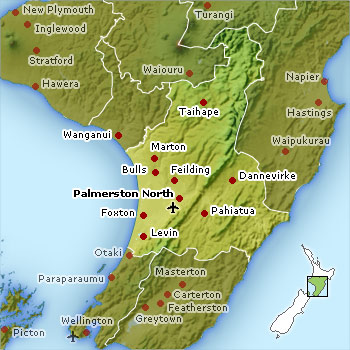 Map of the Manawatu