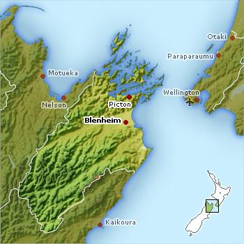 Marlborough district location map