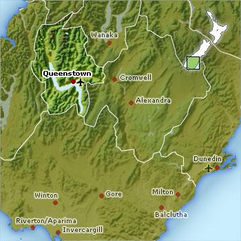 Southern Lakes map