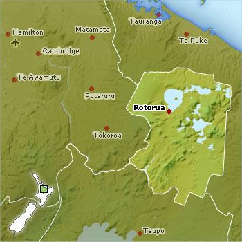 Rotorua location map