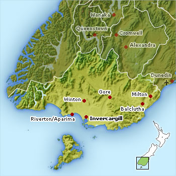Map of Southland