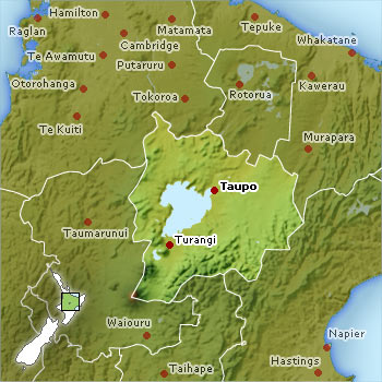 Taupo location map