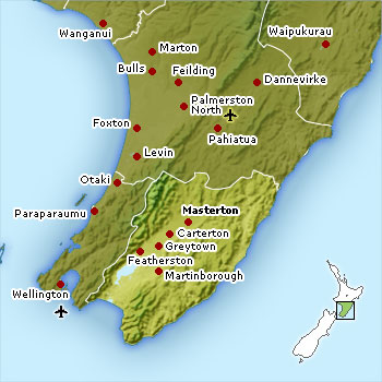 Wairarapa location map