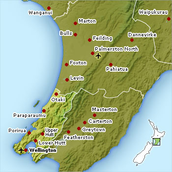 Wellington location map