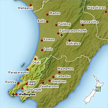 Wellington location map