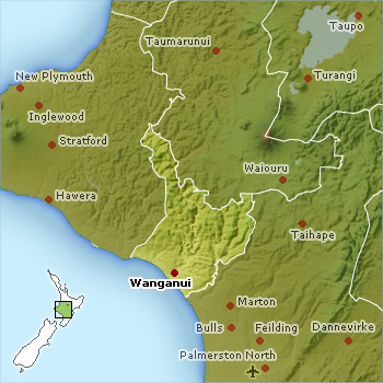 Whanganui Location Map