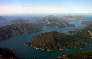 Queen Charlotte Sound in the Marlborough Sounds
