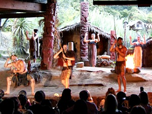 Enjoy a cultural performance and feast at the Mitai Maori Village in Rotorua