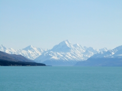 Looking across Lake Pukaki towards Mt Cook