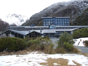 The Hermitage hotel at Mt Cook